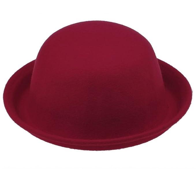 c248d4d94a6 Amazon.com  Bigood Red Warm Wool Trendy Bowler Derby Women Cloche Hat  (0531680661521)  Books