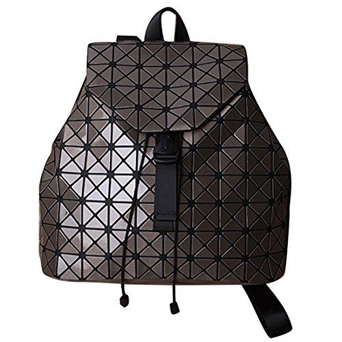 HT Satchel Rucksack - Bolso mochila  para mujer plateado