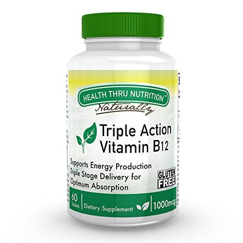 Vitamin B-12 Triple Action 1000mcg 60 Tablets (Gluten-Free)