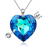 "GEORGE SMITH ""Love Myth"" Heart Necklace Cupid's Love Arrow Necklaces Crystal from Swarovski,Women Jewelry Gift for Wife"