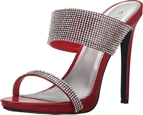 C Label Dames Napoli-24 Rode Sandaal 7 M