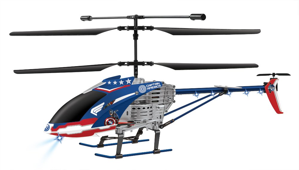 Marvel Licensed Avengers Age of Ultron Captain America 3.5CH RC helicopter, Blue/Red, 25.5 x 4 x 9.75
