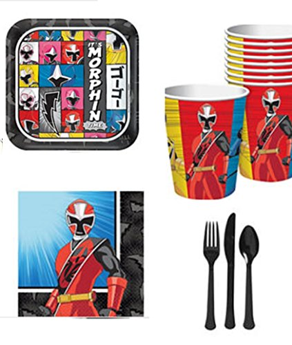 Power Rangers Costume Ideas (Costume Supercenter Power Rangers Ninja Steel Birthday Party Standard Tableware Kit)