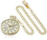 August Steiner Men's CN012YG Round Dial with US Half Dollar Coin Quartz Gold Tone Chain Watch