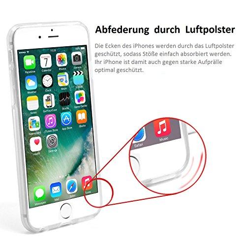 wortek TPU Schutzhülle iPhone 7 Plus Hülle Soft Gel Case transparent Backcover