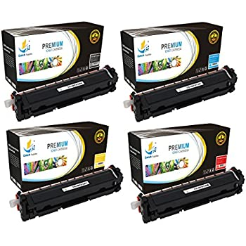 Catch Supplies Replacement HP 410A toner cartridge 4 pack set  Black CF410A, Cyan CF411A, Yellow CF412A, Magenta CF413A compatible with the HP LaserJet Pro M452dn,M452dw,M452nw,MFP M477fdn,MFP M477fdw