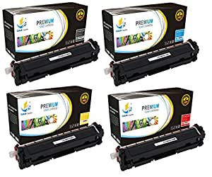 Catch Supplies Replacement HP 410A toner cartridge 4 pack set |Black CF410A, Cyan CF411A, Yellow CF412A, Magenta CF413A|compatible with the HP LaserJet Pro M452dn,M452dw,M452nw,MFP M477fdn,MFP M477fdw