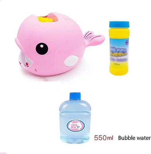 Baby bath toys Juguetes de baño para niños, bebé eléctrico Que sopla Burbujas máquina automática Segura no tóxica Libre de Agua pequeña Ballena Burbuja Juguete acuático: Amazon.es: Hogar
