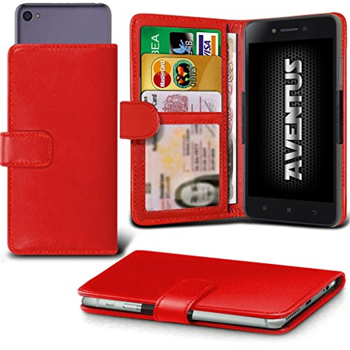 Red HD Green Grand Slot with Premium Leather Card Case Holder 5 Banknotes and Wallet Spring Clamp 5 BLU Universal Camera Pocket Slide PU Case Clamp Aventus Wallet dHSwXxqH