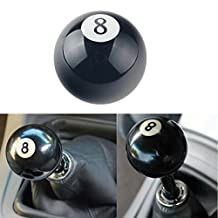"Dewhel 2 1/4"" 8 Ball Billiard Round Manual Gear shift Lever shifter knob Black Shaped JDM 4 5 6 Speed Universal for Honda Acura Mazda Mitsubishi Nissan Infiniti Lexus Toyota Scion Subaru Hyundai etc"
