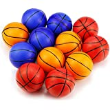 WFPLUS Mini Sports Stress Balls Basketballs Fun, 12-pack