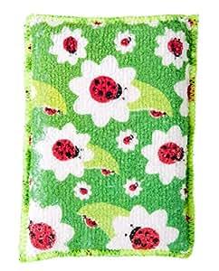 Vigar Ladybug - Pack de 2 esponjas de microfibra, doble uso