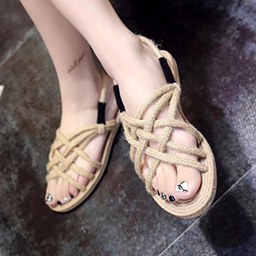 cfff8c1b8b9dda ... Sandales Digood Pour Les Femmes, Les Filles Des Adolescentes Dété  Loisirs Weave Chaussures Pantoufles Plates ...