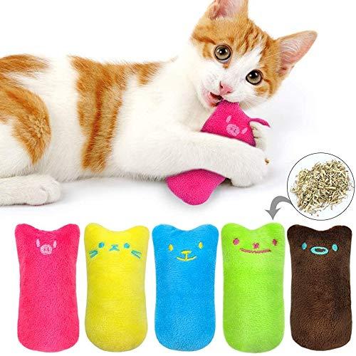Voarge Katzenminze Plüsch Spielzeug, 5 Stück Katzenminze Kissen Katzenspielzeug, Katzenminze Set Katzenspielzeug…