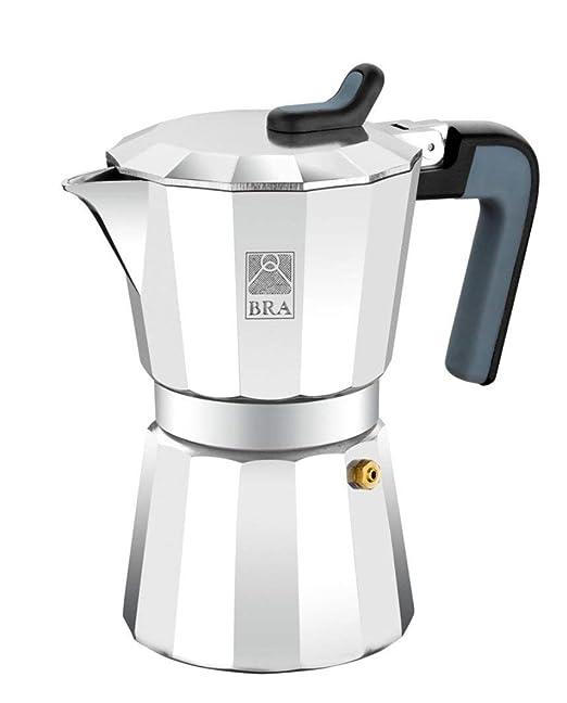 BRA Deluxe2 - Cafetera, Capacidad 6 Tazas, Aluminio