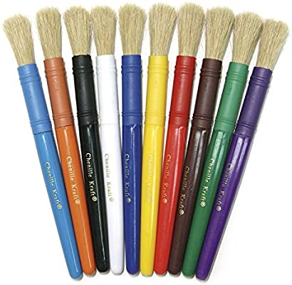 7 Long 6 Packs Creativity Street Beginner Paint Brushes 10 Assorted Colors 10 Per Pack