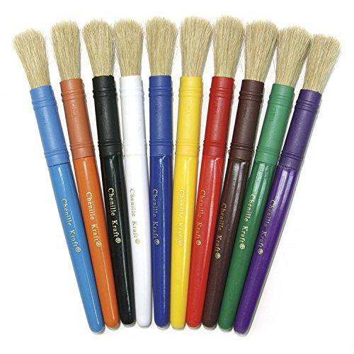 Colossal Paint Brush (Chenille Kraft CK-5900 Stubby White Bristle Paint Brushes, 6.7