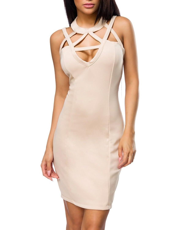 Amazon.com: Angies Glamour Fashion Sexy Party Dress with Cutouts L ...