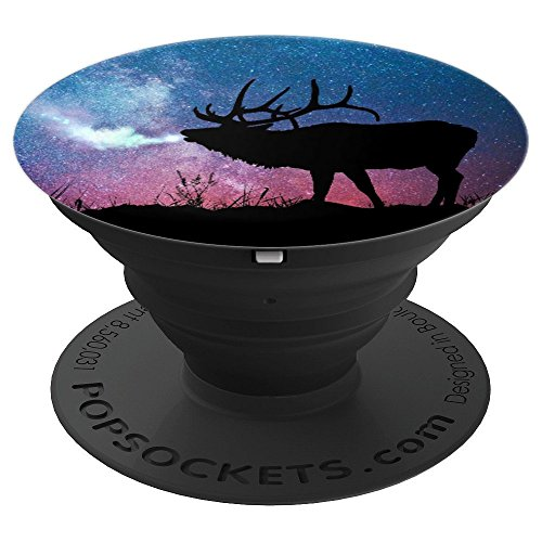 (Colorful Galaxy Fantasy Magic Moose Deer Caribou Antler - PopSockets Grip and Stand for Phones and Tablets)
