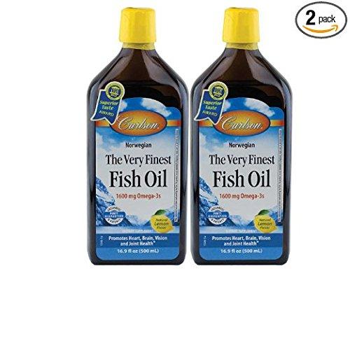 Oil 1545 - Carlson - The Very Finest Fish Oil Lemon, 16.9oz, 2 Pack