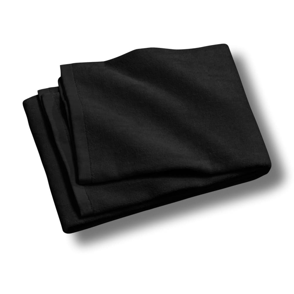 "Custom & Luxurious {30"" x 60"" Inch} 1 Single of Large & Thick Soft Summer Beach & Bath Towels Made of Quick-Dry Cotton w/ Obsidian Dark Solid Colored Cabana Hotel Style [Black]"