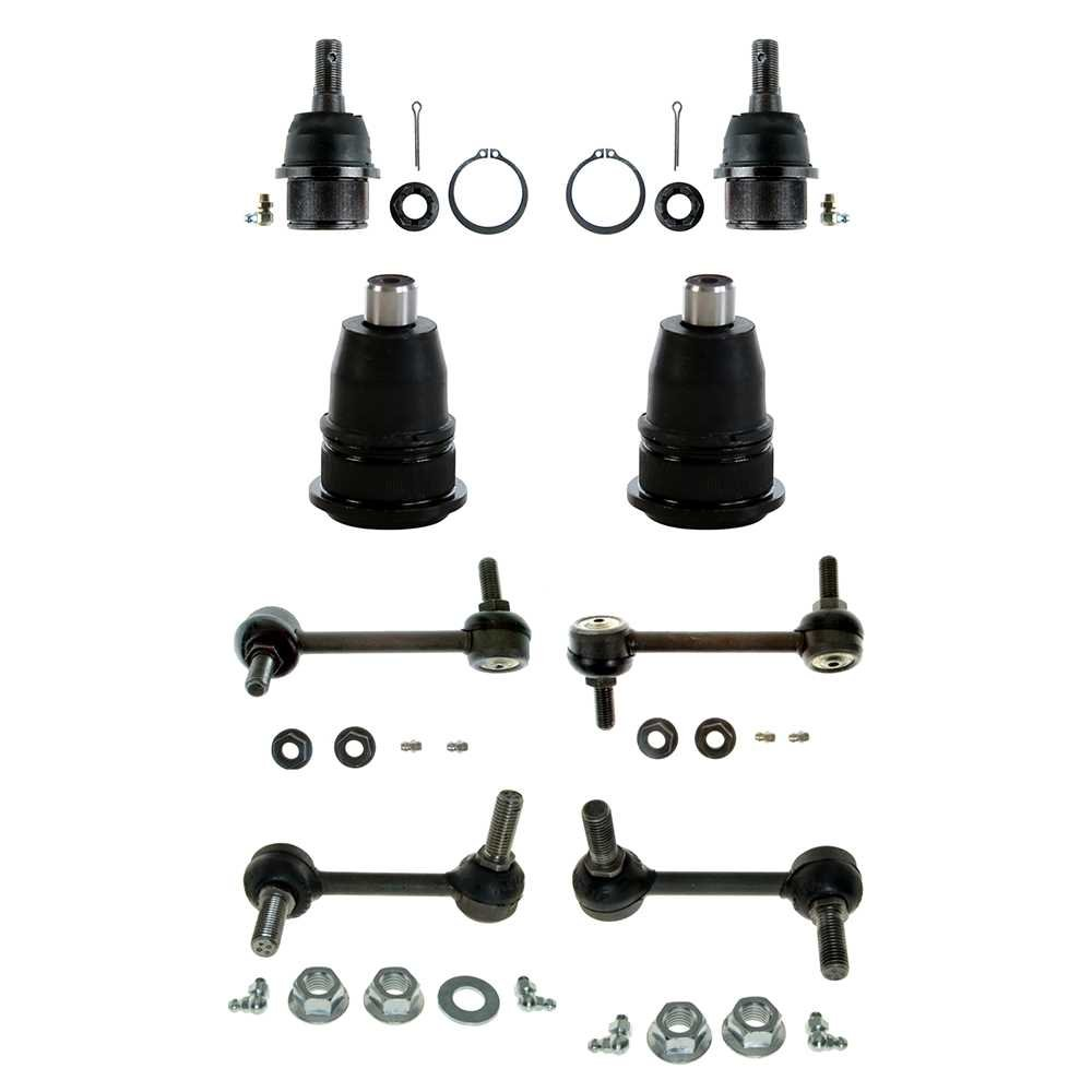 Prime Choice Auto Parts SUSPKG070 Set of 2 Upper and 2 Lower Ball Joints with 4 Sway Bar Links