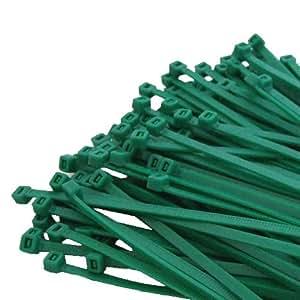 100 x 300 mm X 4,8 mm verde bridas de NYLON plástico de alta calidad ATA papelinas