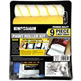 9 Piece 9 inch Great Value Paint Roller Kit,Pinceaux,outils,Paint Roller,Paint Rollers,Paint Roller Frame,Paint Tray,Paint grids,Paint Brush,Paint Roller Covers,Home Repair Tools