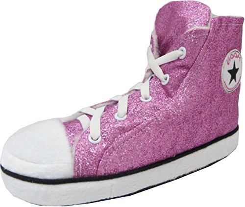 RTB - Zapatillas de estar por casa para hombre Rosa - Lt Pink Glitter Fur Lined