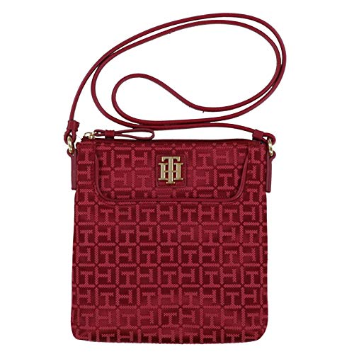 Tommy Hilfiger Womens Small Crossbody Purse (Red)
