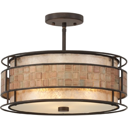 Quoizel MC842SRC Laguna Mica Semi-Flush Ceiling Lighting, 3-Light, 180 Watts, Renaissance Copper (12