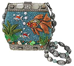 Hand Beaded 3-D Fish Bowl Clutch