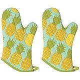 Now Designs Basic Oven Mitt, Pineapples, Set of 2