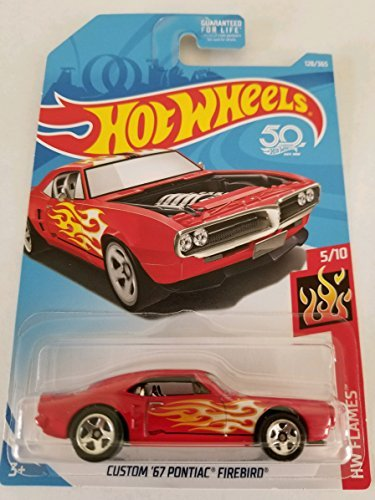 Hot Wheels 2018 HW Flames Custom '67 Pontiac Firebird 128/365, Red 67 Pontiac Firebird