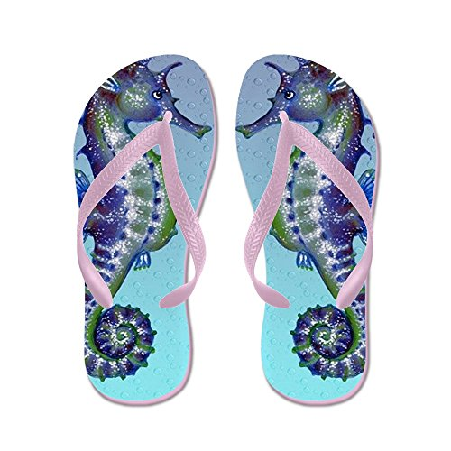 CafePress Seahorse Kiss - Flip Flops, Funny Thong Sandals, Beach Sandals Pink