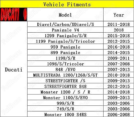 CNC Superficie metálica 3d Juego palancas de freno y embrague para Ducati 749 2003-2006/999 2003-2006/848/EVO 2007-2013/1098 2007-2008/1198 2009-2011 Ducati ...