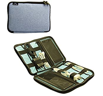 Admirable idea Travel Gear Organizer, Electronics Accessories Organizer, Carry On Bag Color Blue