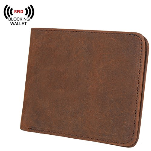 YALUXE Blocking Leather Wallet Security