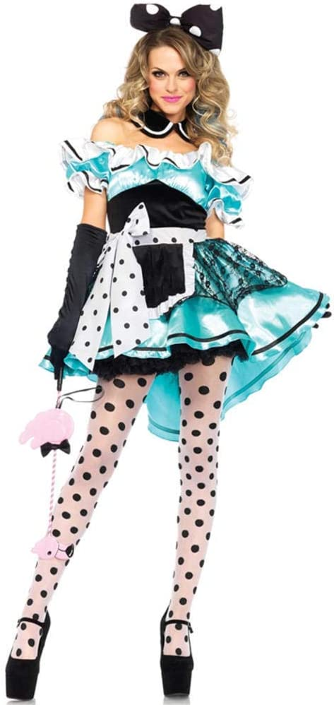 hhalibaba Vestido Sexy de Halloween Mujeres Niñas Alicia en el ...