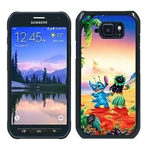 Samsung Galaxy S6 Active Case ,lilo and stitch Black Samsung Galaxy S6 Active Cover Unqiue And Durable Custom Designed Phone Case