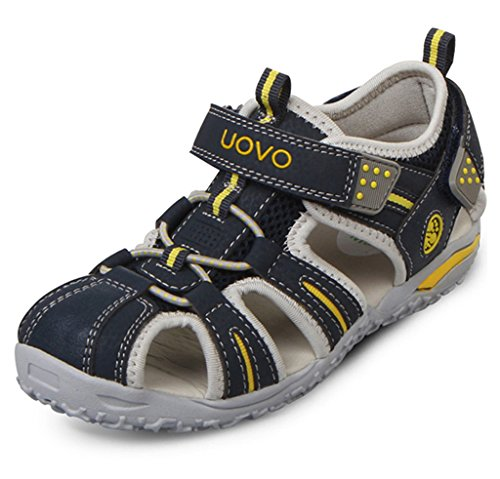 Ioo Summer Beach Outdoor Closed Toe Sandals For Boys And Girls 5 M Big Kid Navy Blue 37