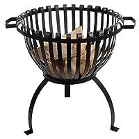 Feuerkorb schwarz klein Fire Basket ✔ rund