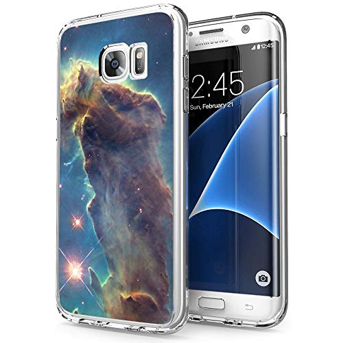 Owa UV Printing Case for Samsung Galaxy S7, Shock-Absorption Bumper Cover, Anti-Scratch Clear Back, HD Clear - Outer Space