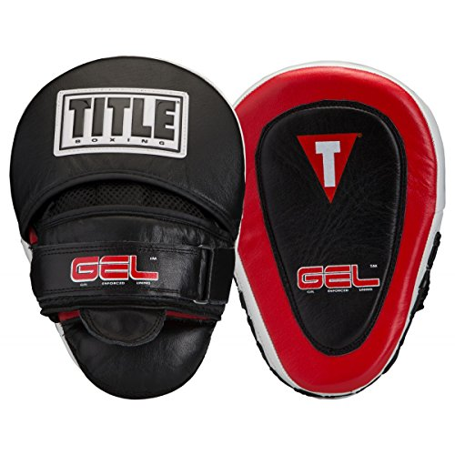 TITLE Gel Blockade Punch Mitts, Black/Red