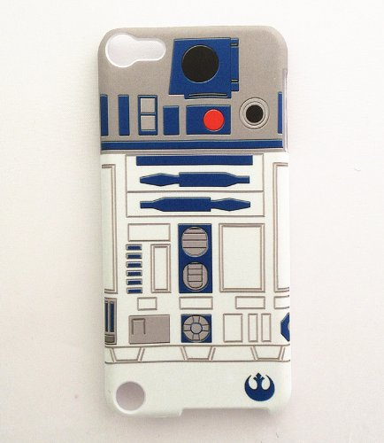 Ipod Touch Faceplates (Unique R2D2 Robot Design Snap on Case Back Cover Faceplate for iPod Touch 5 5th Generation + Screen Protector - Personalized Cool Back Protective Case Shell-Perfect as gift)