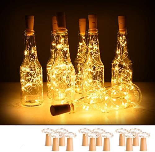 New Warm Wine Bottle Cork Shape Lights 20LED Night Lights Fairy Lamp U2P5