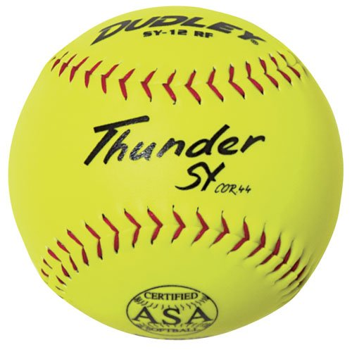Dudley ASA Thunder SY Slow Pitch Synthetic Soft Ball (0.44/375-Pounds, 12-Inch) - Dozen