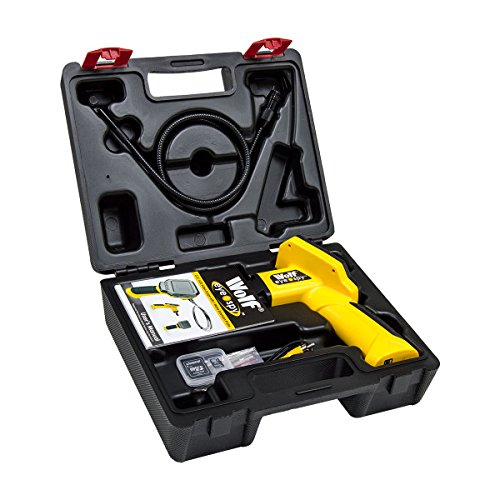 Cavity Walls /& Ventilation Shafts 2 Years Warranty Ceilings Wolf Eye Spy Inspection Video Scope with 8GB Memory Card 1 Metre Flexible Probe /& 45/° Viewing Angle Ideal For Automotive Drains Machinery