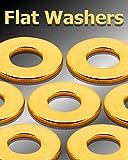 250 Pcs #6 Solid Brass Flat Washers Brass Flat Washer Flats Super-Deals-Shop