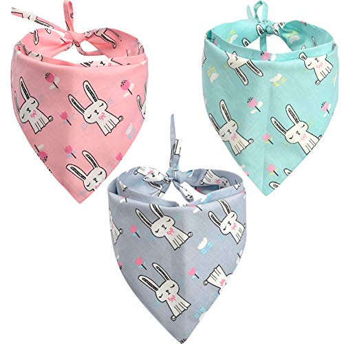 Lamphy 3Pcs Dog Bandana Easter Pet Triangle Head Scarf Accessories Bibs for Dog Cat